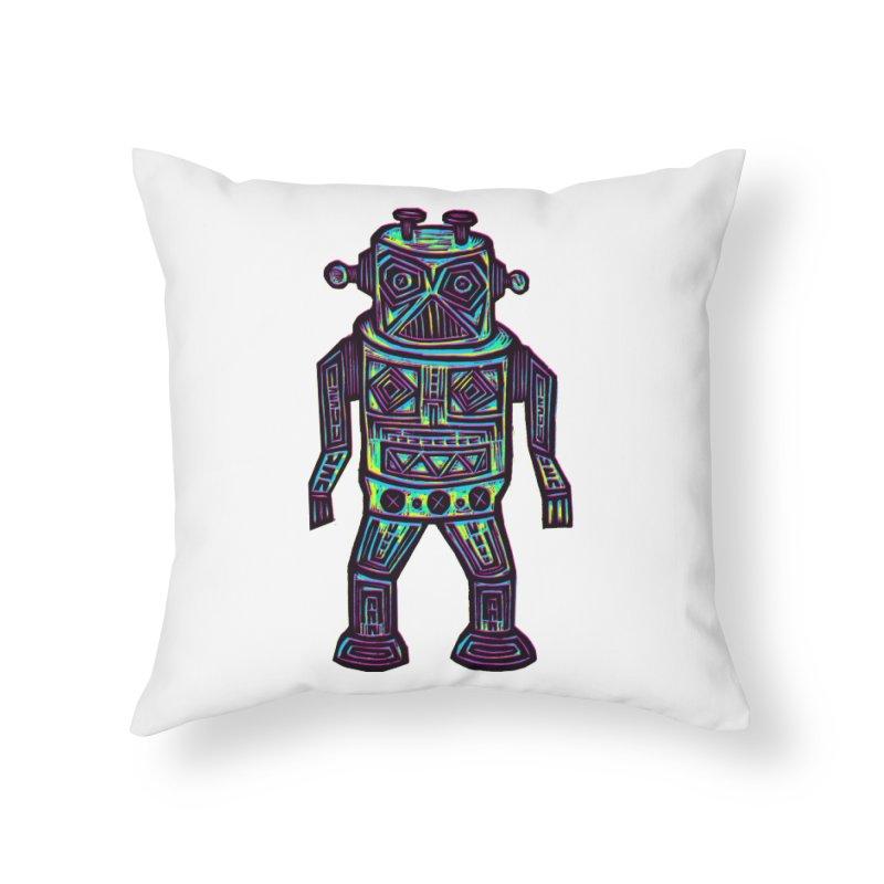 Robot z2 Home Throw Pillow by Sean StarWars' Artist Shop