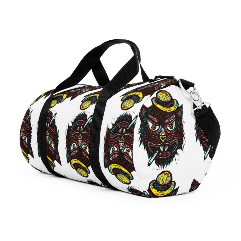 Tough Cat Accessories Duffel Bag Bag by Sean StarWars' Artist Shop