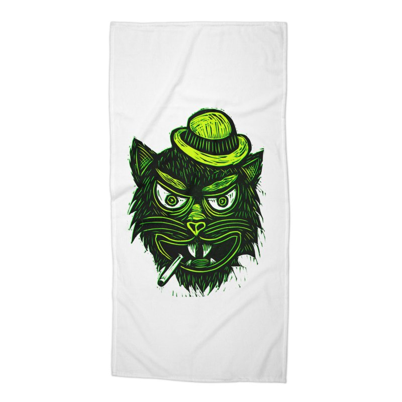 Tough Cat Accessories Beach Towel by Sean StarWars' Artist Shop