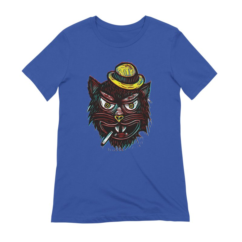 Tough Cat Women's Extra Soft T-Shirt by Sean StarWars' Artist Shop