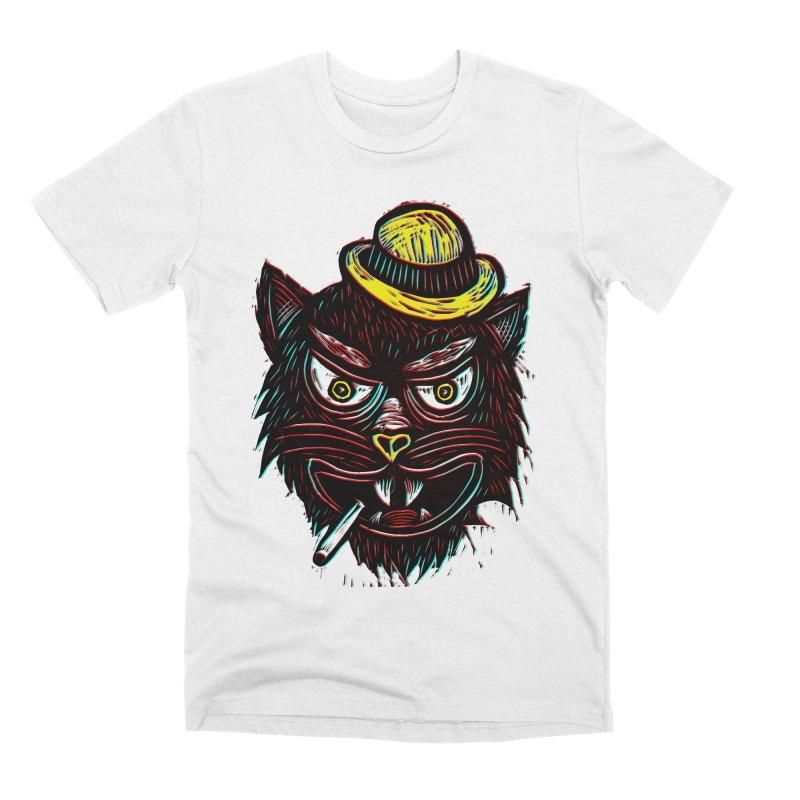 Tough Cat Men's Premium T-Shirt by Sean StarWars' Artist Shop