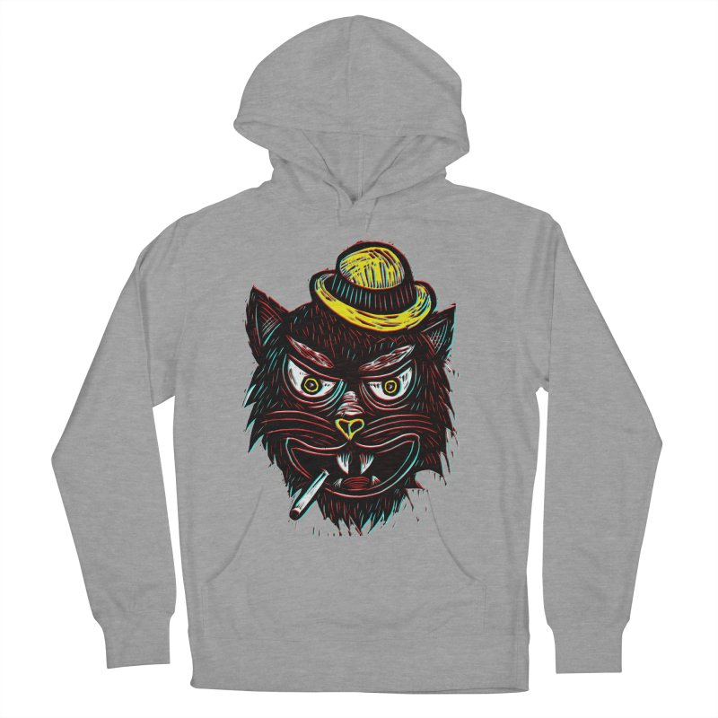 Tough Cat Women's French Terry Pullover Hoody by Sean StarWars' Artist Shop