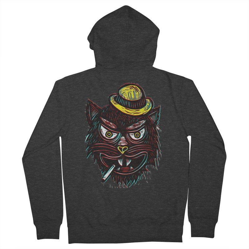 Tough Cat Women's French Terry Zip-Up Hoody by Sean StarWars' Artist Shop