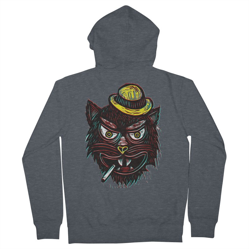 Tough Cat Men's French Terry Zip-Up Hoody by Sean StarWars' Artist Shop