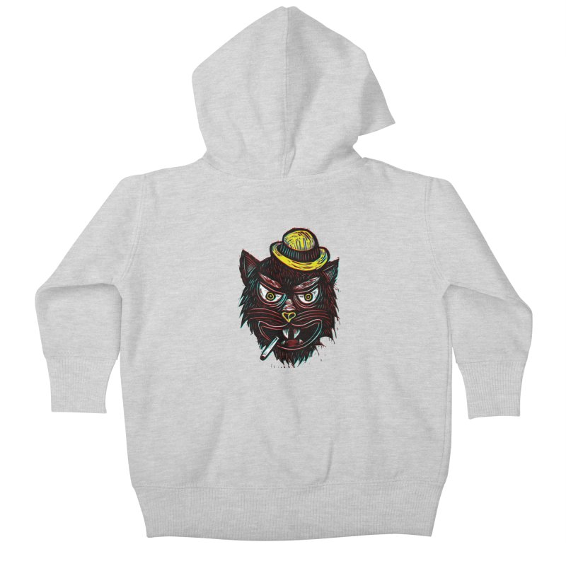 Tough Cat Kids Baby Zip-Up Hoody by Sean StarWars' Artist Shop
