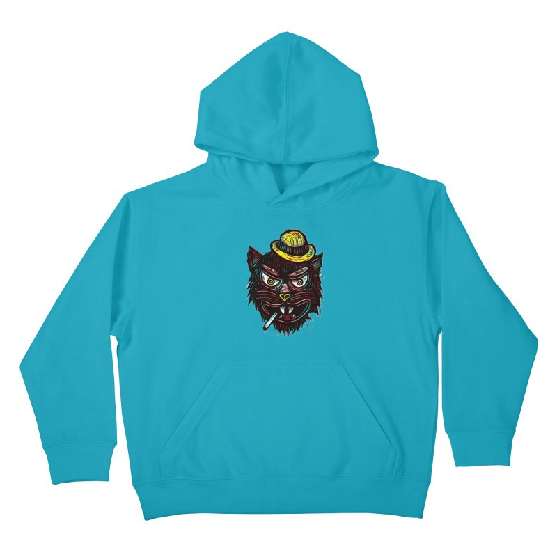 Tough Cat Kids Pullover Hoody by Sean StarWars' Artist Shop