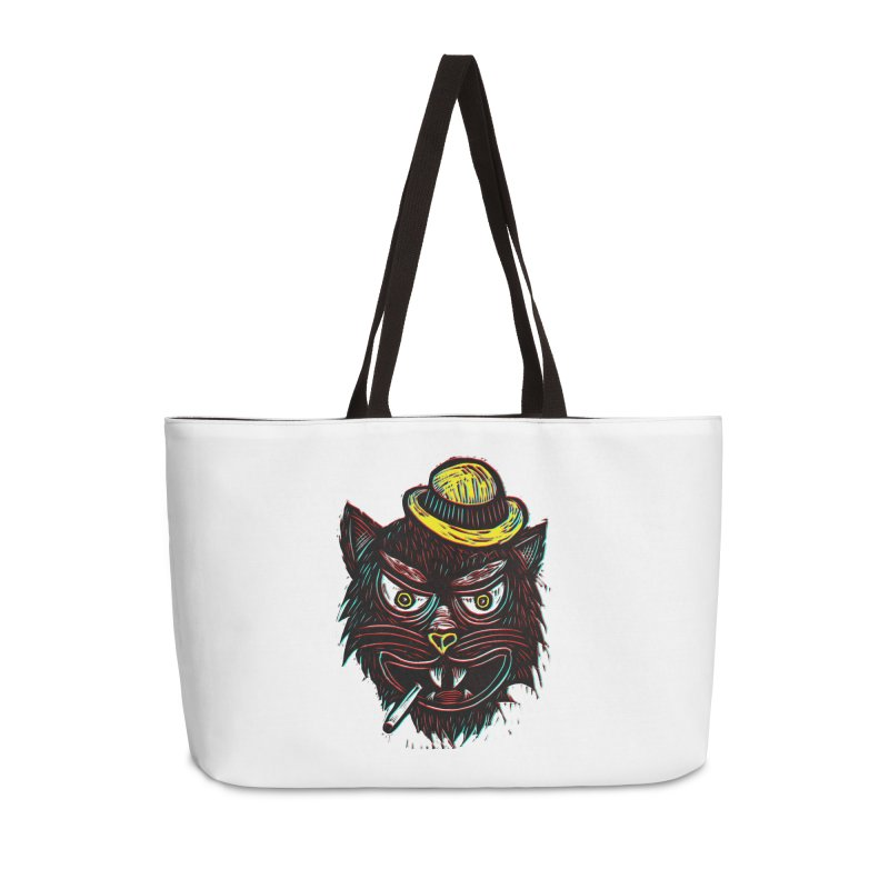 Tough Cat Accessories Weekender Bag Bag by Sean StarWars' Artist Shop
