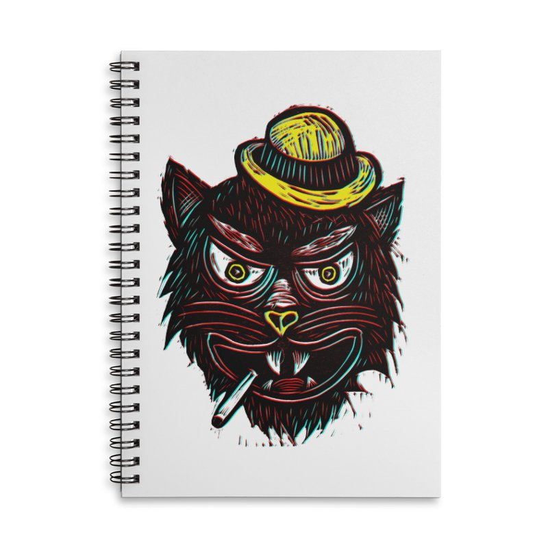 Tough Cat Accessories Lined Spiral Notebook by Sean StarWars' Artist Shop
