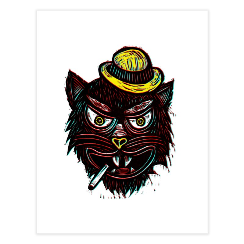 Tough Cat Home Fine Art Print by Sean StarWars' Artist Shop