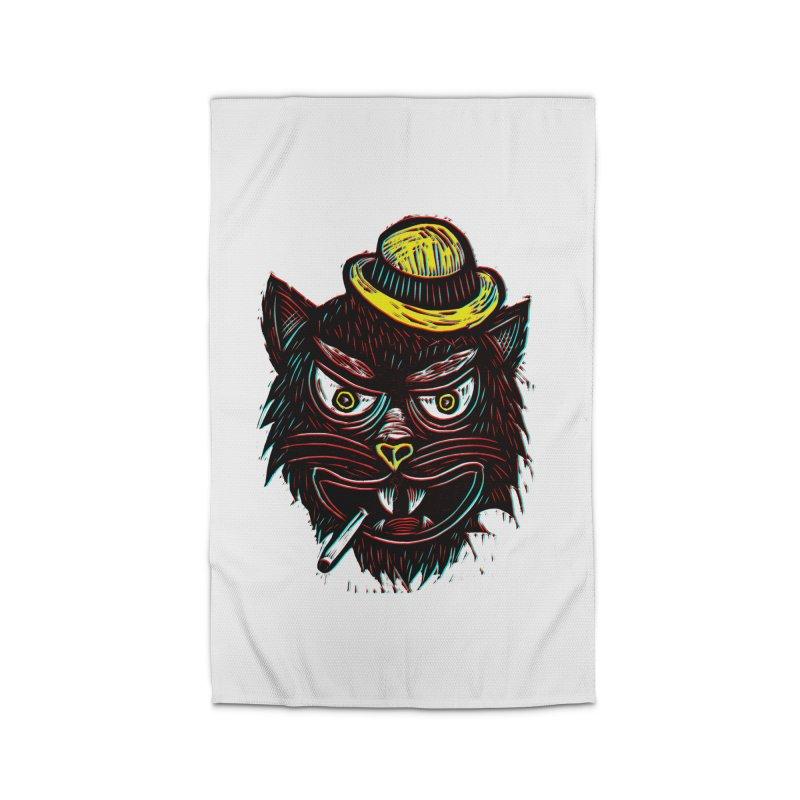 Tough Cat Home Rug by Sean StarWars' Artist Shop