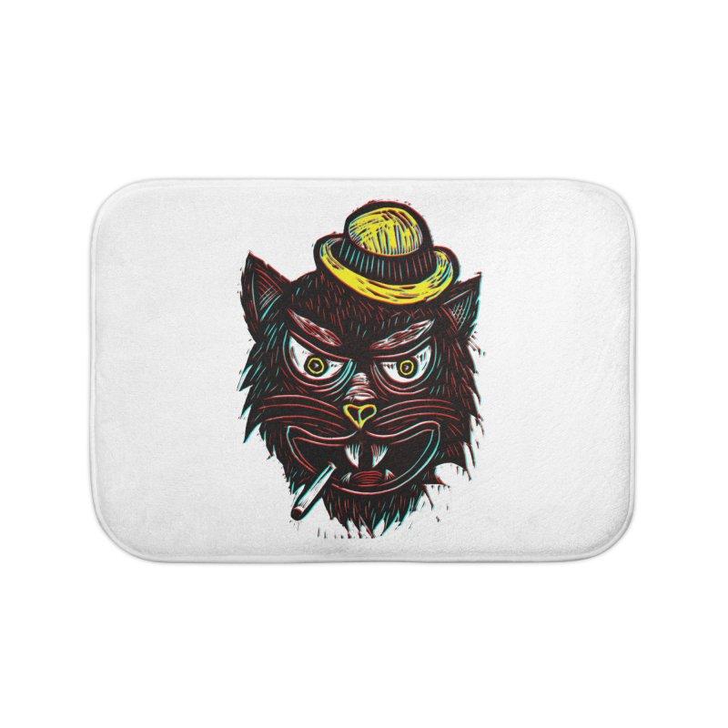 Tough Cat Home Bath Mat by Sean StarWars' Artist Shop