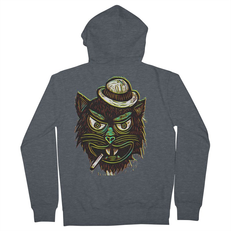 Tough Cat Men's Zip-Up Hoody by Sean StarWars' Artist Shop