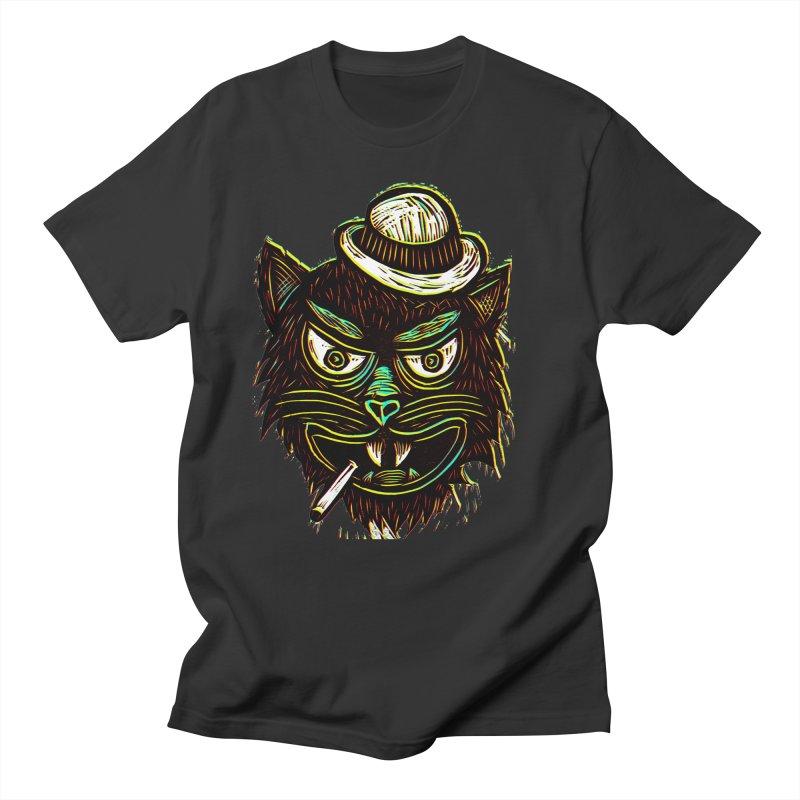 Tough Cat Men's T-shirt by Sean StarWars' Artist Shop