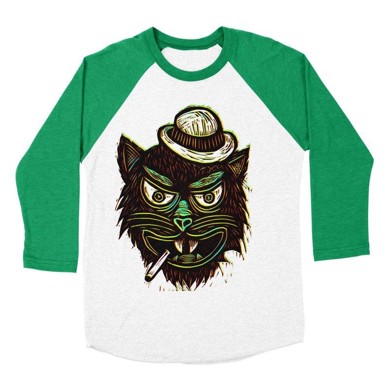 Tough Cat Women's Baseball Triblend T-Shirt by Sean StarWars' Artist Shop