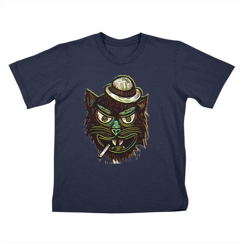 Tough Cat Kids T-shirt by Sean StarWars' Artist Shop