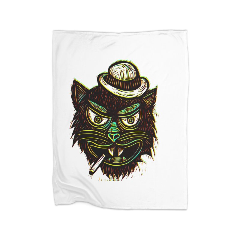 Tough Cat Home Blanket by Sean StarWars' Artist Shop