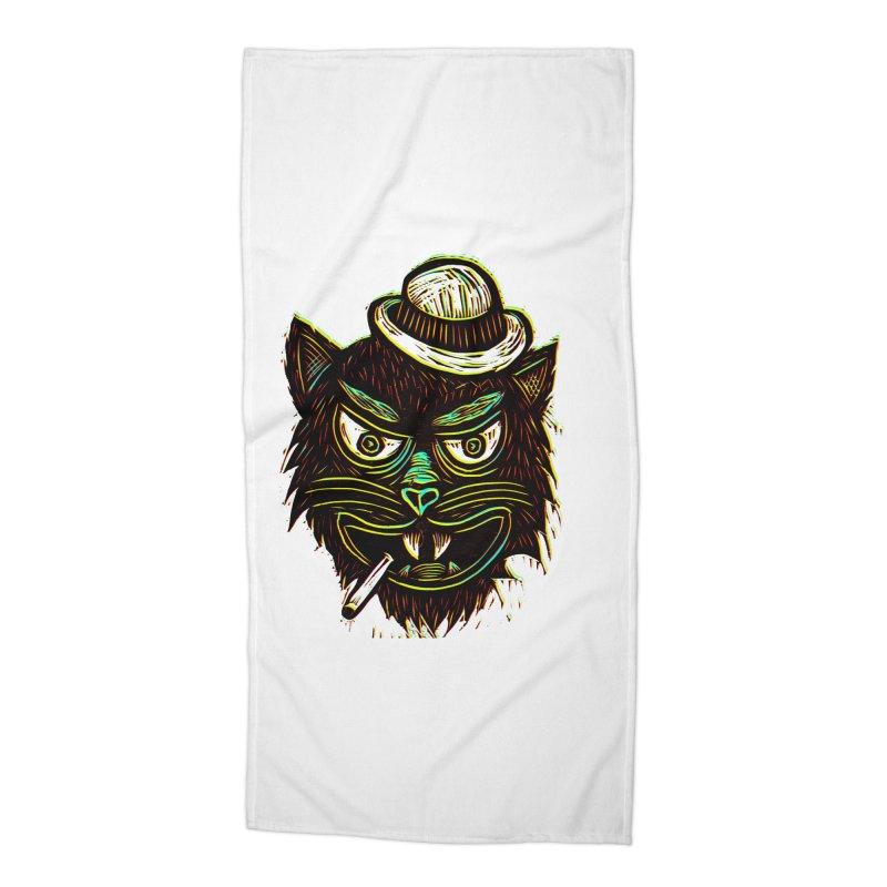 Tough Cat Accessories Beach Towel by Sean StarWars' Artist Shop