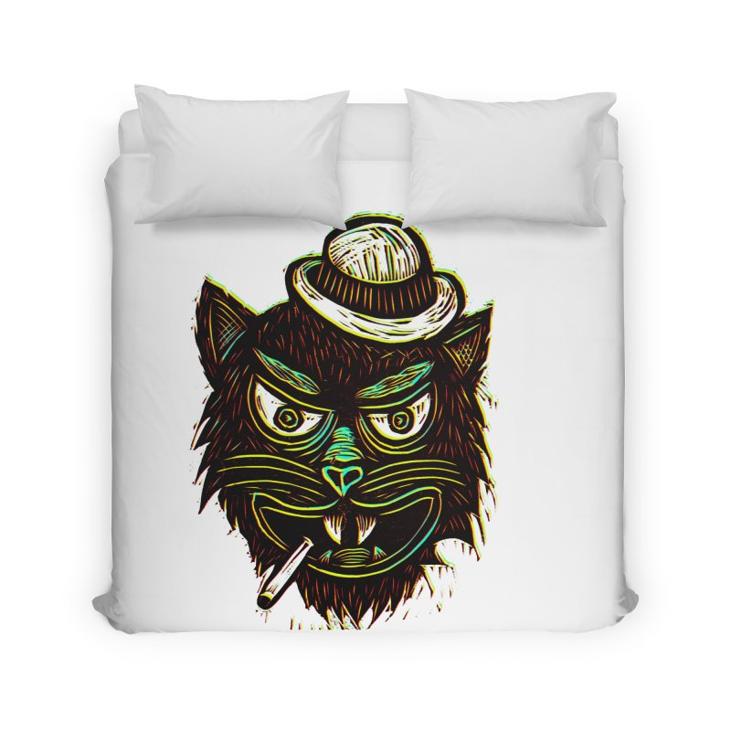 Tough Cat Home Duvet by Sean StarWars' Artist Shop