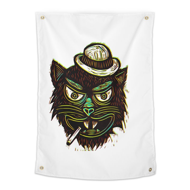 Tough Cat Home Tapestry by Sean StarWars' Artist Shop