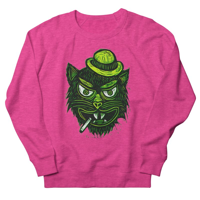 Tough Cat Women's Sweatshirt by Sean StarWars' Artist Shop