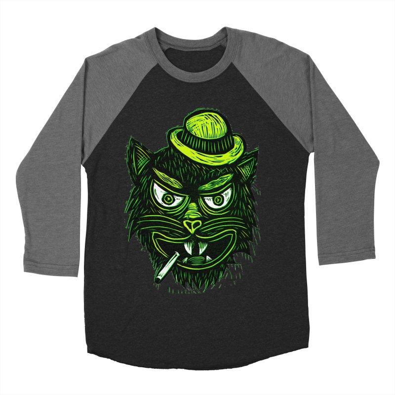 Tough Cat Men's Baseball Triblend T-Shirt by Sean StarWars' Artist Shop