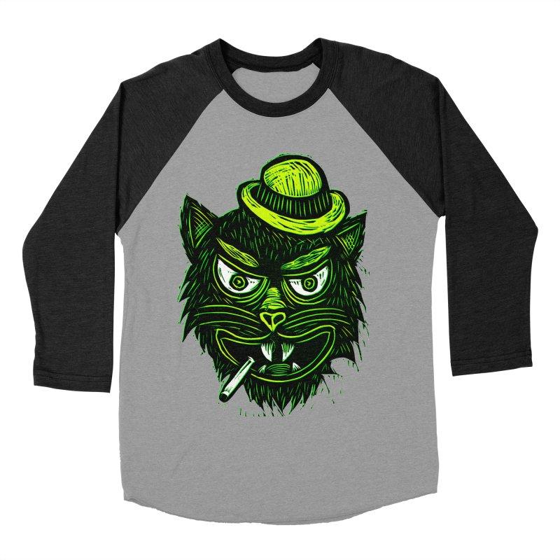 Tough Cat Men's Baseball Triblend Longsleeve T-Shirt by Sean StarWars' Artist Shop