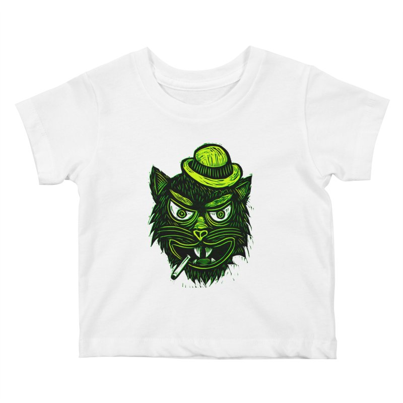 Tough Cat Kids Baby T-Shirt by Sean StarWars' Artist Shop
