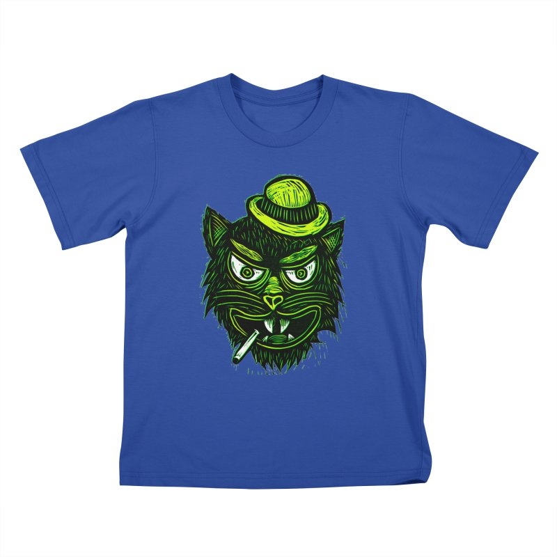 Tough Cat Kids T-Shirt by Sean StarWars' Artist Shop