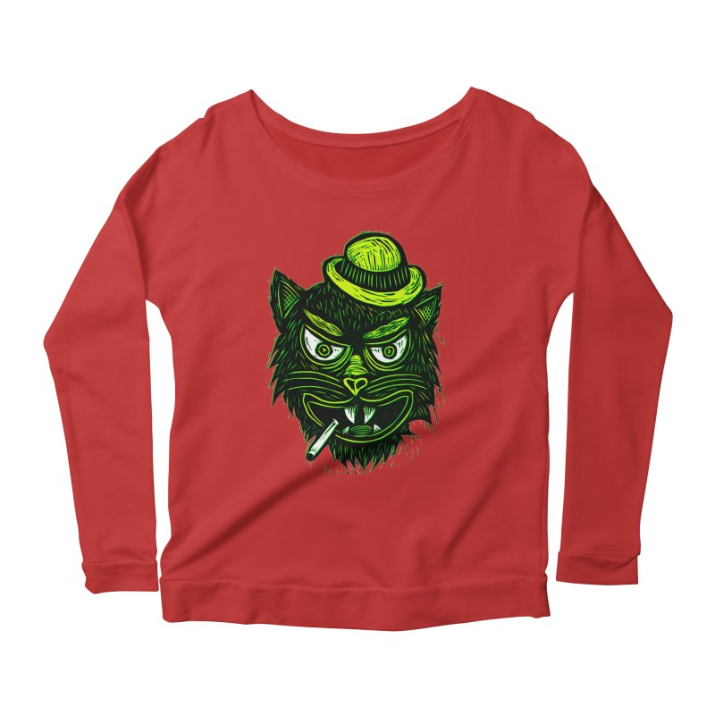 Tough Cat Women's Scoop Neck Longsleeve T-Shirt by Sean StarWars' Artist Shop