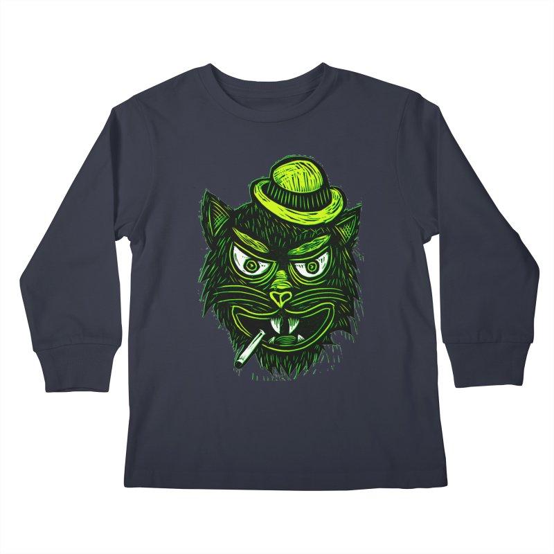 Tough Cat Kids Longsleeve T-Shirt by Sean StarWars' Artist Shop