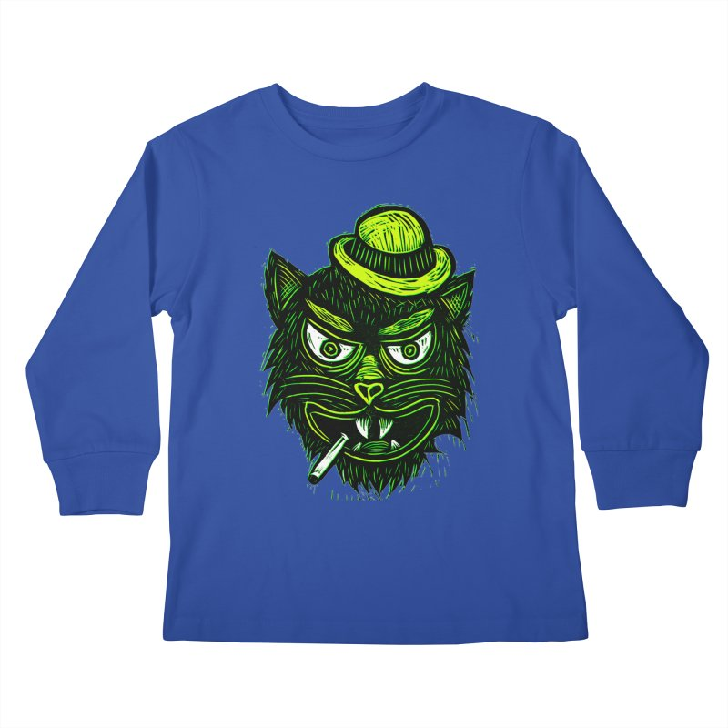 Tough Cat Kids Longsleeve T-Shirt by Sean StarWars' Artist Shop