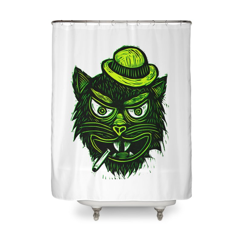 Tough Cat Home Shower Curtain by Sean StarWars' Artist Shop