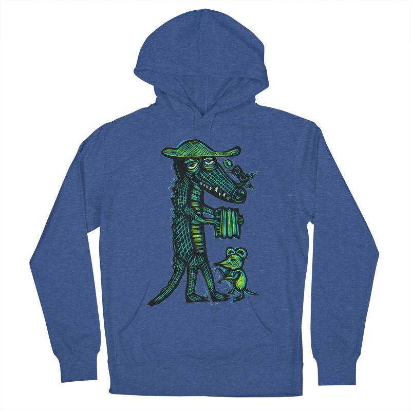 Cajun Gator Men's French Terry Pullover Hoody by Sean StarWars' Artist Shop