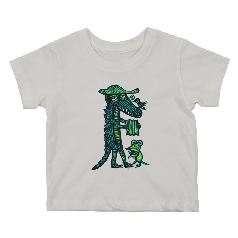 Cajun Gator Kids Baby T-Shirt by Sean StarWars' Artist Shop