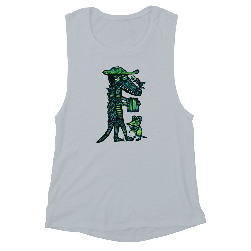 Cajun Gator Women's Muscle Tank by Sean StarWars' Artist Shop
