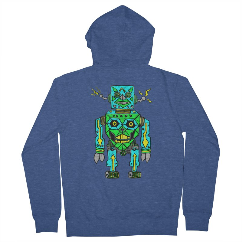 Robot Men's Zip-Up Hoody by Sean StarWars' Artist Shop