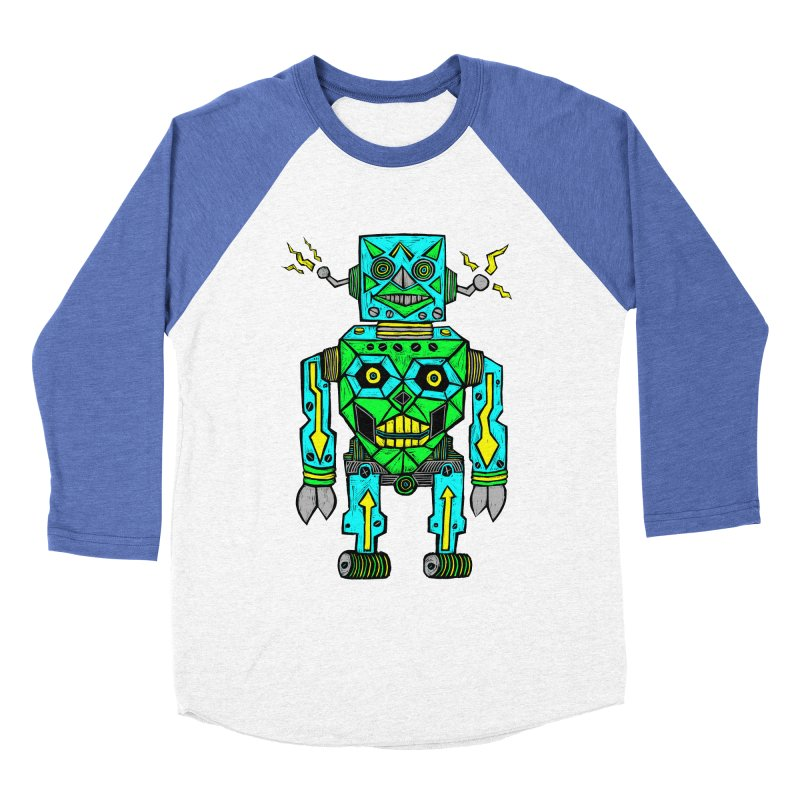 Robot Men's Baseball Triblend T-Shirt by Sean StarWars' Artist Shop
