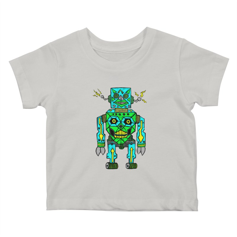 Robot Kids Baby T-Shirt by Sean StarWars' Artist Shop