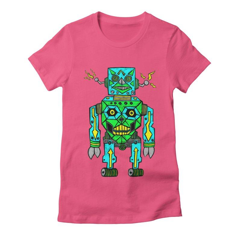 Robot Women's Fitted T-Shirt by Sean StarWars' Artist Shop