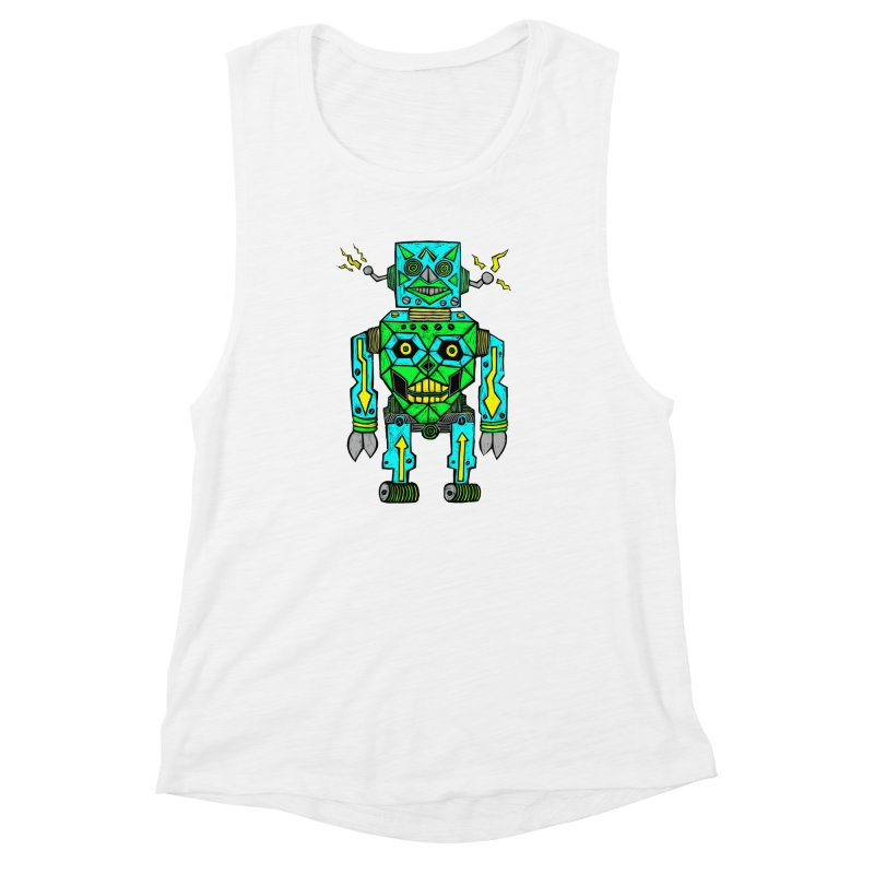 Robot Women's Muscle Tank by Sean StarWars' Artist Shop