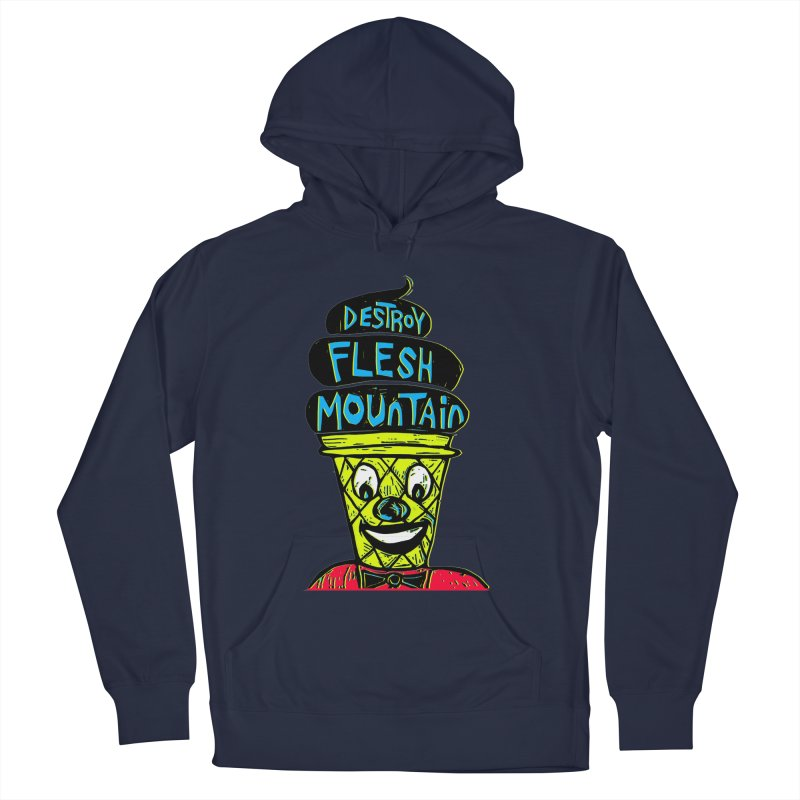 Destroy Flesh Mountain Men's French Terry Pullover Hoody by Sean StarWars' Artist Shop