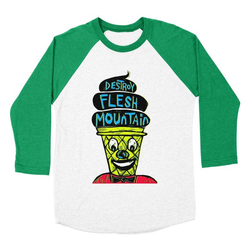 Destroy Flesh Mountain Men's Baseball Triblend T-Shirt by Sean StarWars' Artist Shop