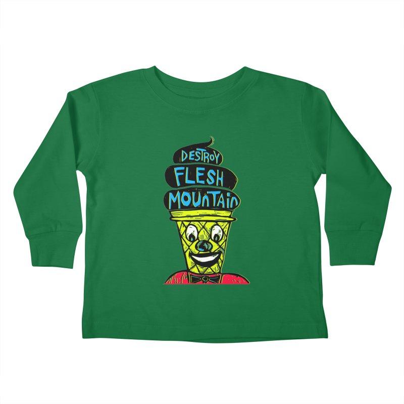 Destroy Flesh Mountain Kids Toddler Longsleeve T-Shirt by Sean StarWars' Artist Shop
