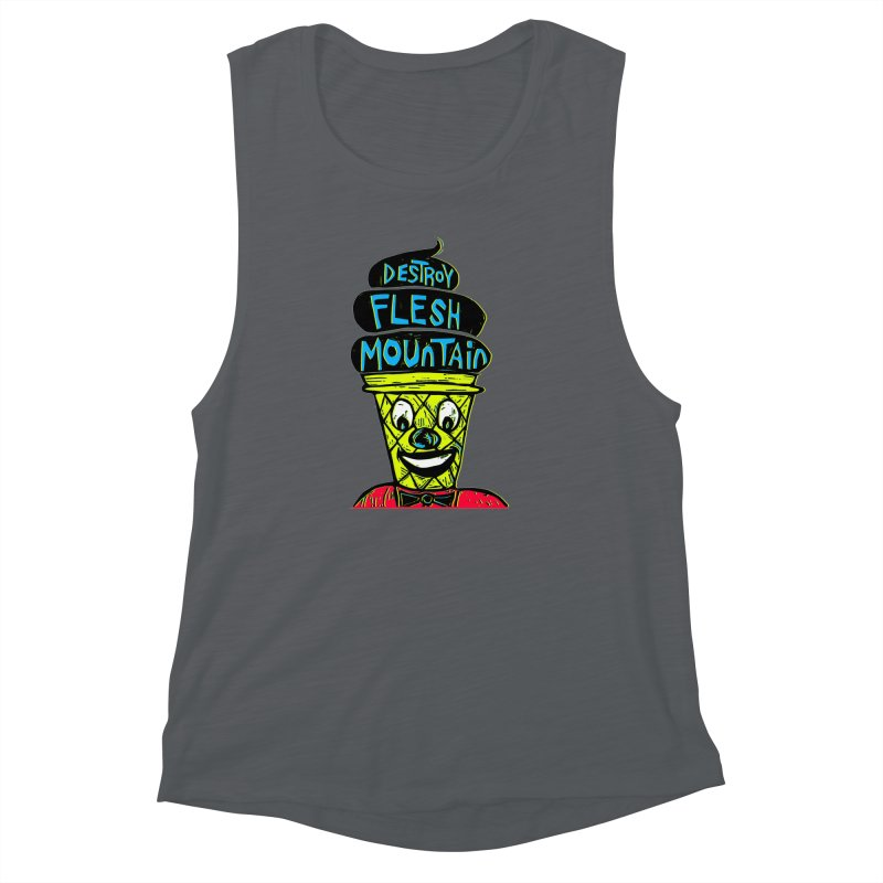 Destroy Flesh Mountain Women's Muscle Tank by Sean StarWars' Artist Shop