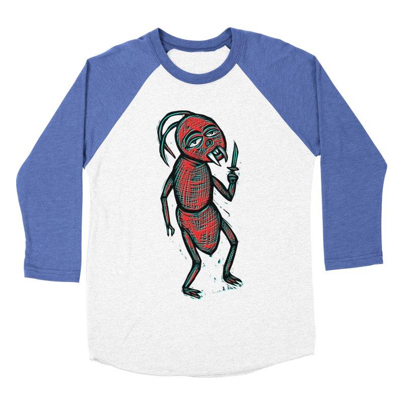 Knife Fighter Women's Baseball Triblend T-Shirt by Sean StarWars' Artist Shop