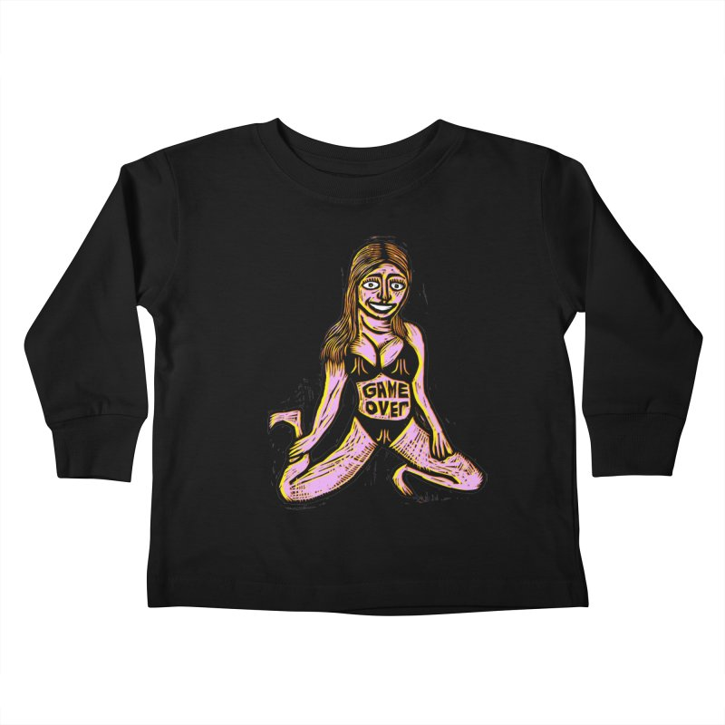 Atari Girl Kids Toddler Longsleeve T-Shirt by Sean StarWars' Artist Shop