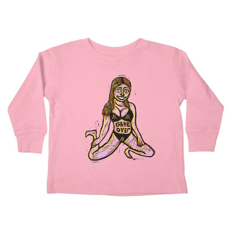 Atari Girl Kids Toddler Longsleeve T-Shirt by Sean StarWars' Artist Shop