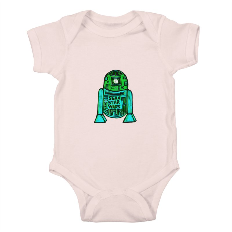 Sean Starwars Droid Kids Baby Bodysuit by Sean StarWars' Artist Shop