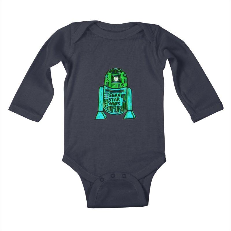 Sean Starwars Droid Kids Baby Longsleeve Bodysuit by Sean StarWars' Artist Shop
