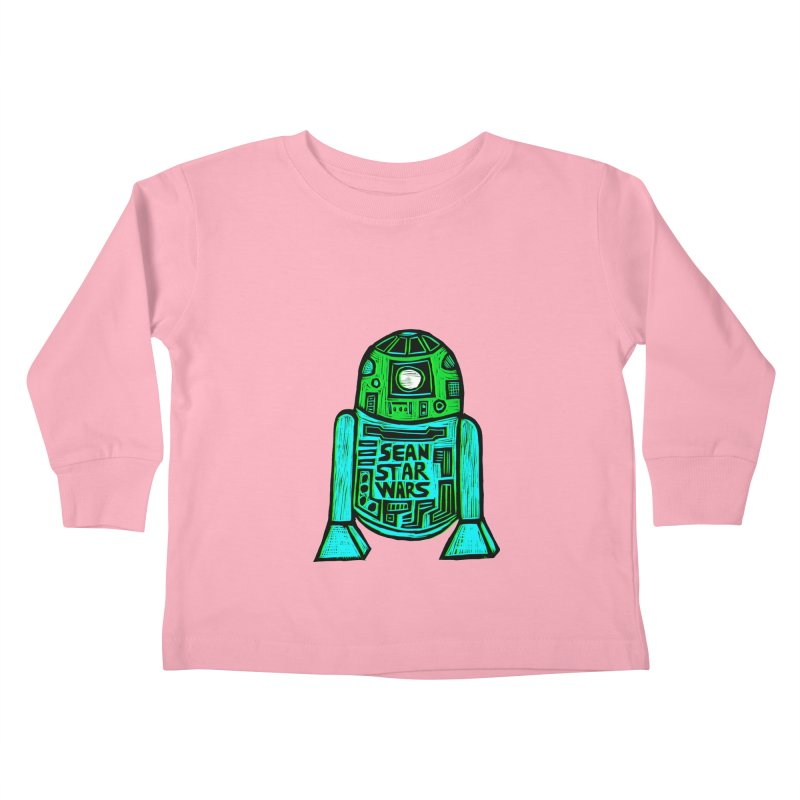 Sean Starwars Droid Kids Toddler Longsleeve T-Shirt by Sean StarWars' Artist Shop